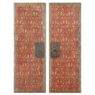 Uttermost Red Door Panels, Set of 2