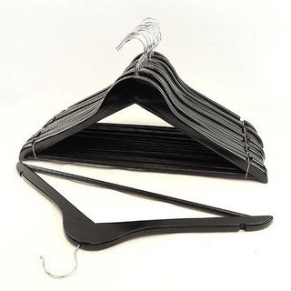 Black Wood Suit Hangers (Set of 96)