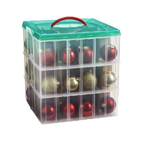Snap 'N Stack 12-inch x 12-inch 3-layer Seasonal Ornament Organizer