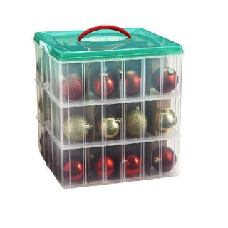 Snap 'N Stack 12-inch x 12-inch 3-layer Seasonal Ornament Organizer