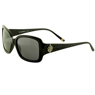 Tommy Bahama Women's 'TB 7019 001' Black Polarized Sunglasses