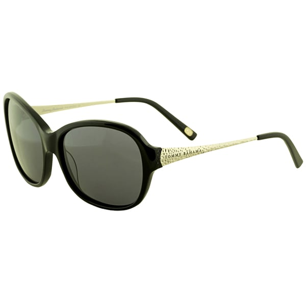 bfb10ad3e55 Shop Tommy Bahama Women s  TB7016 001  Black Polarized Sunglasses ...