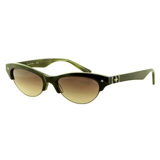 Nicole Miller Women's 'Vesey C03' Olive Horn Plastic Sunglasses