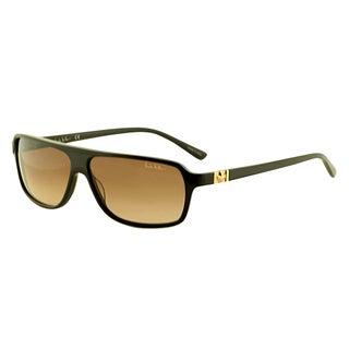 Nicole Miller Women's 'Vandam C02' Chocolate Brown Plastic Sunglasses