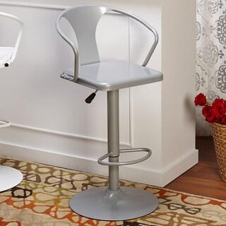 Simple Living Retro Max Adjustable Height/ Swivel Bar Stool (Option: Silver - Silver Finish)