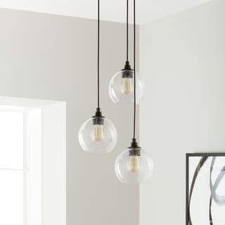 3 light pendant contemporary uptown 3light clear globe cluster pendant buy lights lighting online at overstockcom our best