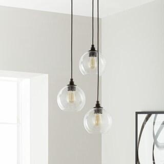 Uptown 3-light Clear Globe Cluster Pendant