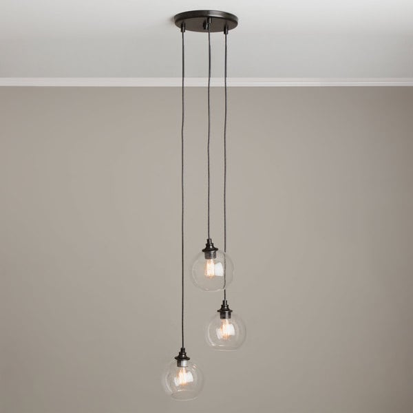 Uptown 3-light Clear Globe Cluster Pendant & Uptown 3-light Clear Globe Cluster Pendant - Free Shipping Today ... azcodes.com