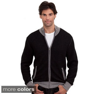 Luigi Baldo Men's Italian Made Cashmere Blend Full-zip Sweater