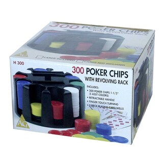 300 Poker Chips with Revolving Rack