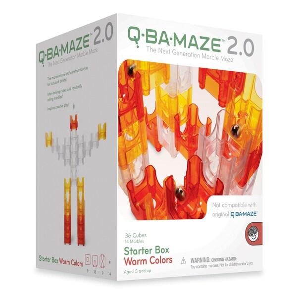 Q-Ba-Maze 2.0 Starter Box Warm Colors: 50 Pcs