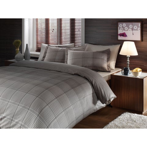 Brielle Rayon from Bamboo Twill Graph 3-piece Duvet Cover Set with Giftable Box