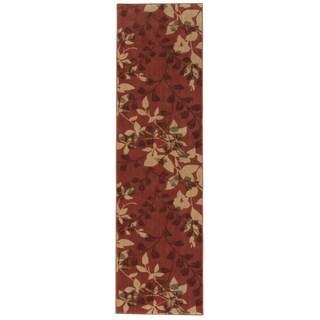Somerset Leafy Vine Brick Red Runner Rug (2'3 x 8')