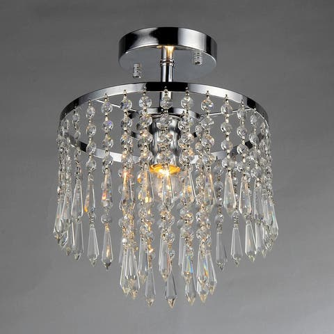 Seek Chrome and Crystal 1-light Tiered Chandelier