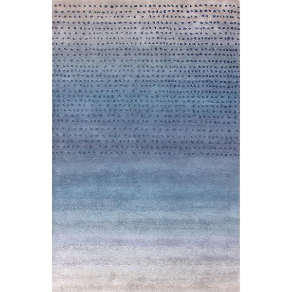 NuLOOM Handmade Ombre Blue Wool Rug (7u00276 X ...