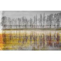 Parvez Taj 'Sunset Lake' Canvas Art Print - Multi-color