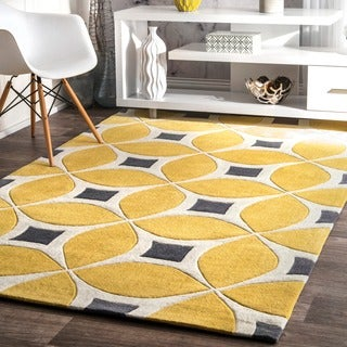 nuloom handmade modern disco yellow rug 5u0027 x 8u0027 option