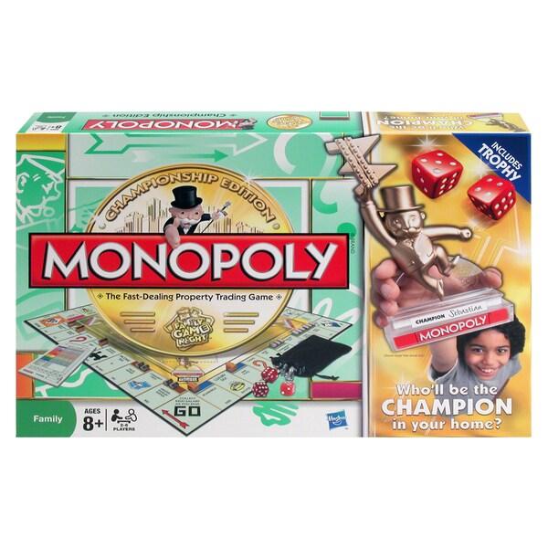 Hasbro Championship Edition Monopoly Board Game