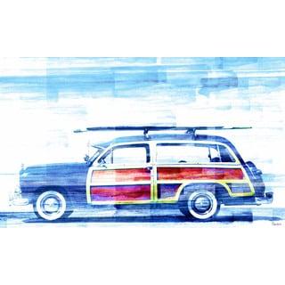 Handmade Parvez Taj - Surf Day Canvas Art Print