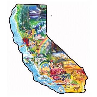 Sun and Fun California Shaped 1000-piece Puzzle