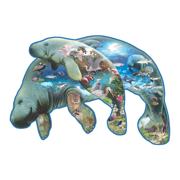 Manatees Shaped 1000-piece Puzzle