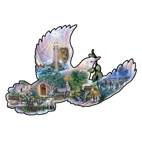 Dove of Hope Shaped 1000-piece Puzzle