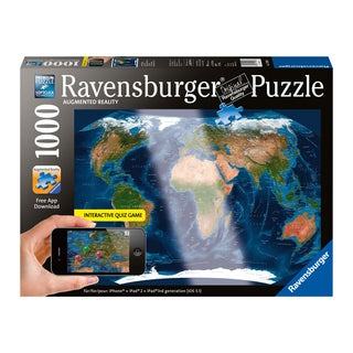 Augmented Reality Satellite World Map 1000-piece Jigsaw Puzzle