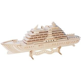 Luxury Yacht Wooden 3D Puzzle
