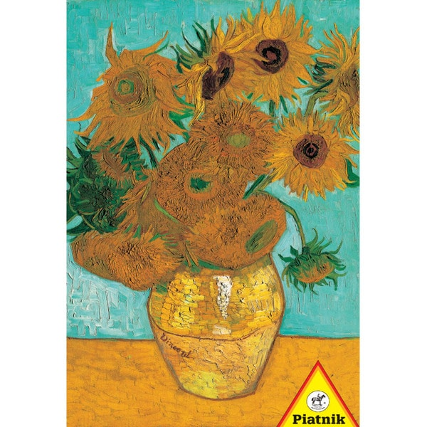 Van Gogh Vase with Twelve Sunflowers Puzzle: 1000 Pcs