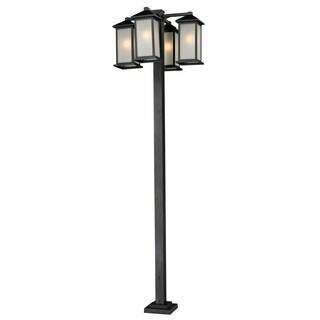 Avery Home Lighting 4-head Outdoor Post - Black