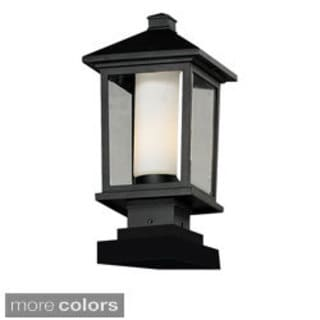 Z-Lite Two-tone Glass Outdoor Post Light