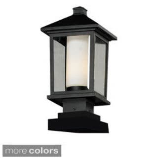 Z-Lite Two-tone Glass Outdoor Post Light|https://ak1.ostkcdn.com/images/products/8619009/Z-Lite-Two-tone-Glass-Outdoor-Post-Light-P15885382.jpg?impolicy=medium