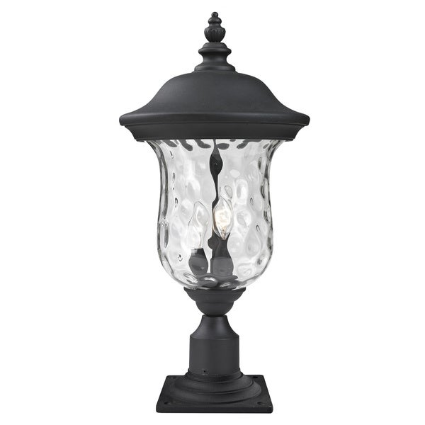 Shop avery home lighting clear water glass outdoor post mount light avery home lighting clear water glass outdoor post mount light aloadofball Choice Image