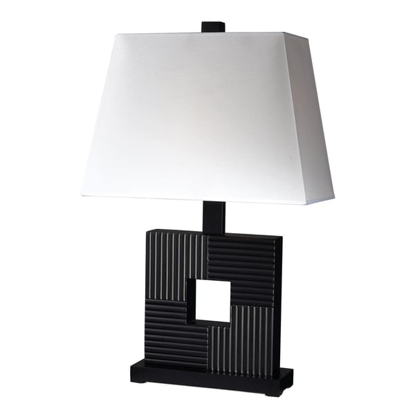 Avery Home Lighting 1-light Casual Black Wood Table Lamp