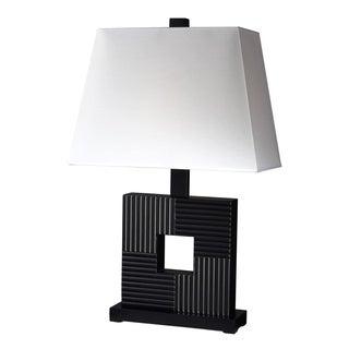 Z-Lite 1-light Casual Black Wood Table Lamp
