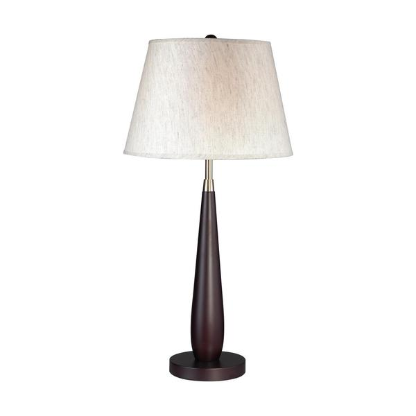 Avery Home Lighting 1-light Mahogony Finish Wood Table Lamp
