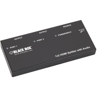 Black Box 1 x 2 HDMI Splitter with Audio