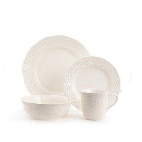 Red Vanilla Nantucket 16-piece White Dinner Set