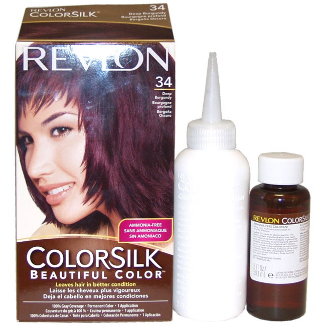Revlon ColorSilk Beautiful Color #34 Deep Burgundy Hair C...