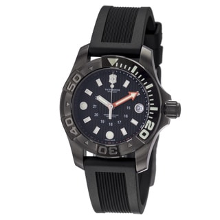 Victorinox Swiss Army Men's 241555 'Dive Master' Black Dial Black Rubber Strap Watch