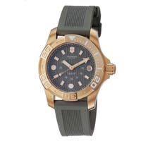Swiss Army Men's 241557 'Dive Master' Green Dial Green Rubber Strap Watch - olive