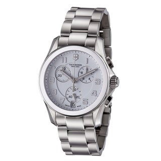 Swiss Army Men's 'Chrono Classic' White Dial Stainless Steel Watch