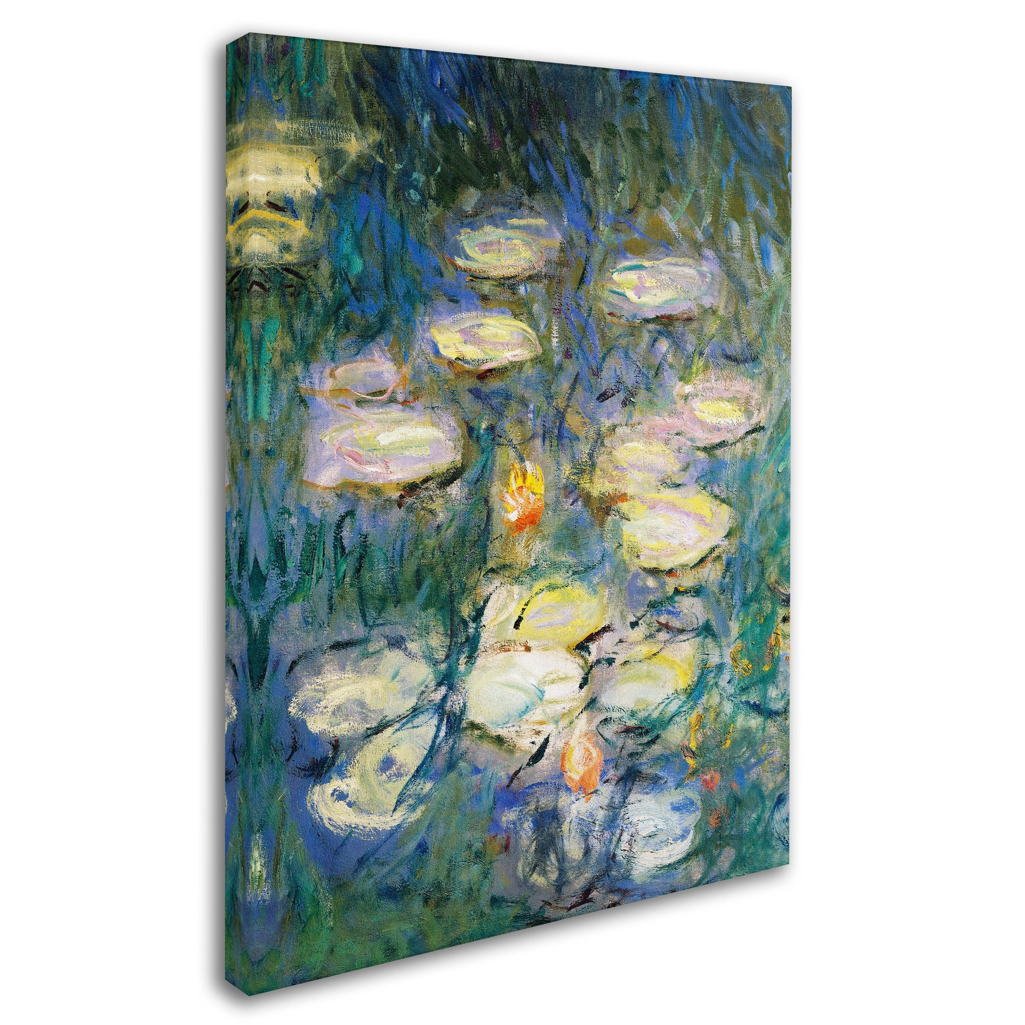 Water Lilies III 1840-1926 Artwork by Claude Monet 14 by 19-Inch Canvas Wall Art