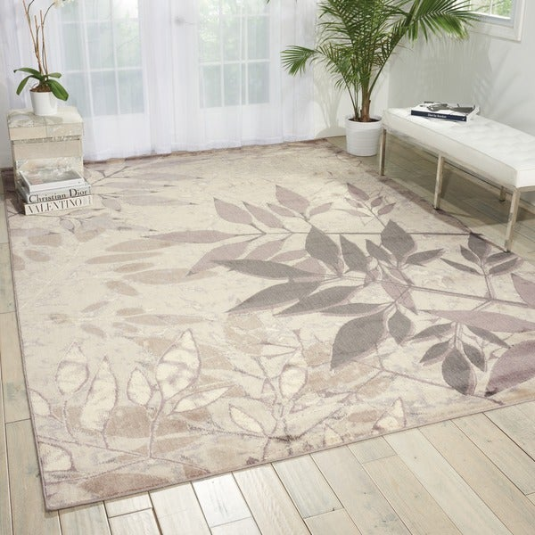"Nourison Utopia Silver Reed Shadows Rug (9'6 x 13') - 9'6"" x 13'"