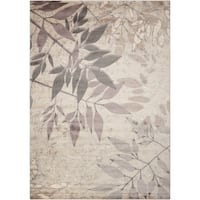 Nourison Utopia Silver Reed Shadow Rug (7'9 x 10'10) - 7'9 x 10'10