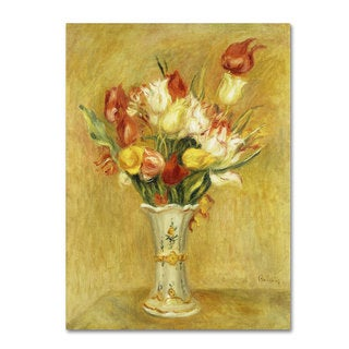 Pierre Renoir 'Tulipes 1909' Canvas Art