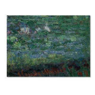 Claude Monet 'The Waterlily Pond Green Harmony' Canvas Art
