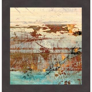 J. McKenzie 'Barn Blue Square II' Framed Art Print