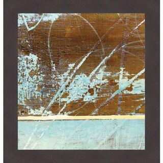 Barn Blue Square I/J.Mckenzie Framed Art Print