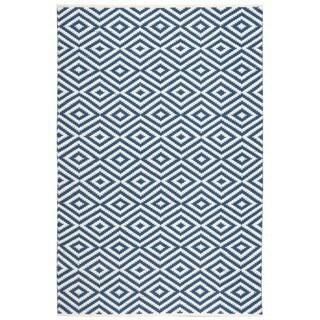Nourison Mesa Geometric Navy Rug (5' x 7'6)